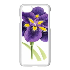 Lily Flower Plant Blossom Bloom Apple Iphone 7 Seamless Case (white)