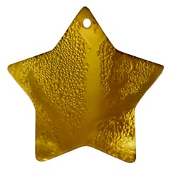 Beer Beverage Glass Yellow Cup Ornament (star)