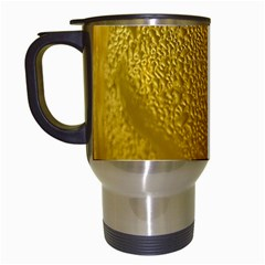 Beer Beverage Glass Yellow Cup Travel Mugs (white)