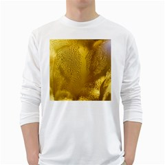 Beer Beverage Glass Yellow Cup White Long Sleeve T Shirts