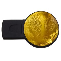 Beer Beverage Glass Yellow Cup Usb Flash Drive Round (4 Gb) by Nexatart