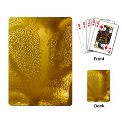 Beer Beverage Glass Yellow Cup Playing Card by Nexatart