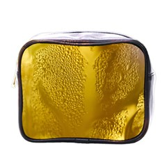 Beer Beverage Glass Yellow Cup Mini Toiletries Bags by Nexatart