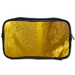 Beer Beverage Glass Yellow Cup Toiletries Bags 2 Side by Nexatart