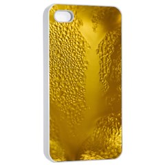 Beer Beverage Glass Yellow Cup Apple Iphone 4/4s Seamless Case (white) by Nexatart
