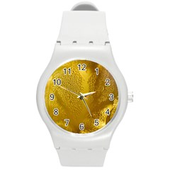 Beer Beverage Glass Yellow Cup Round Plastic Sport Watch (m) by Nexatart
