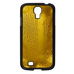Beer Beverage Glass Yellow Cup Samsung Galaxy S4 I9500/ I9505 Case (black) by Nexatart