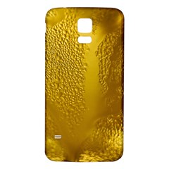 Beer Beverage Glass Yellow Cup Samsung Galaxy S5 Back Case (white)