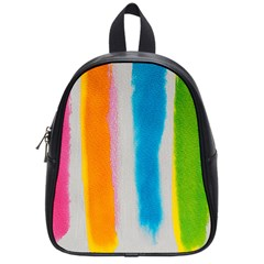 Watercolors Stripes             School Bag (small) by LalyLauraFLM
