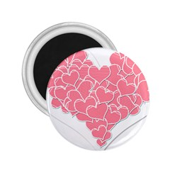 Heart Stripes Symbol Striped 2 25  Magnets