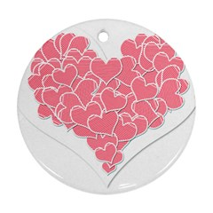 Heart Stripes Symbol Striped Ornament (round) by Nexatart