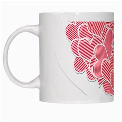 Heart Stripes Symbol Striped White Mugs by Nexatart
