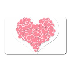 Heart Stripes Symbol Striped Magnet (rectangular) by Nexatart