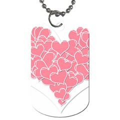 Heart Stripes Symbol Striped Dog Tag (two Sides) by Nexatart