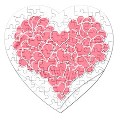 Heart Stripes Symbol Striped Jigsaw Puzzle (heart) by Nexatart