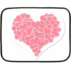 Heart Stripes Symbol Striped Fleece Blanket (mini) by Nexatart