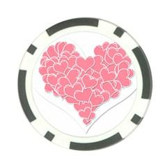 Heart Stripes Symbol Striped Poker Chip Card Guard (10 Pack)