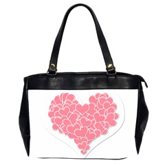 Heart Stripes Symbol Striped Office Handbags (2 Sides)  by Nexatart