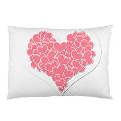 Heart Stripes Symbol Striped Pillow Case (two Sides) by Nexatart