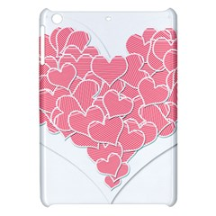 Heart Stripes Symbol Striped Apple Ipad Mini Hardshell Case by Nexatart