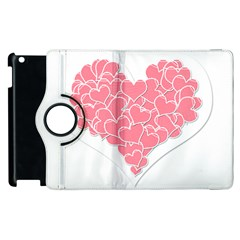 Heart Stripes Symbol Striped Apple Ipad 2 Flip 360 Case by Nexatart