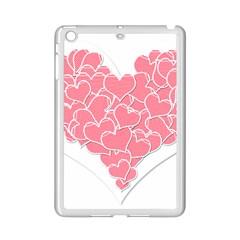 Heart Stripes Symbol Striped Ipad Mini 2 Enamel Coated Cases