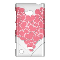 Heart Stripes Symbol Striped Nokia Lumia 720 by Nexatart