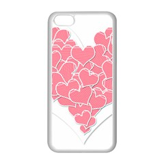 Heart Stripes Symbol Striped Apple Iphone 5c Seamless Case (white)