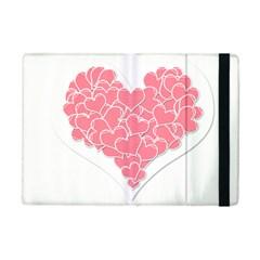 Heart Stripes Symbol Striped Ipad Mini 2 Flip Cases