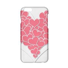 Heart Stripes Symbol Striped Apple Iphone 6/6s Hardshell Case
