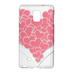 Heart Stripes Symbol Striped Galaxy Note Edge