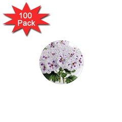 Flower Plant Blossom Bloom Vintage 1  Mini Magnets (100 Pack)  by Nexatart