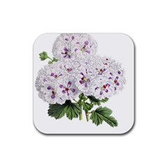 Flower Plant Blossom Bloom Vintage Rubber Square Coaster (4 Pack)  by Nexatart