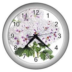 Flower Plant Blossom Bloom Vintage Wall Clocks (silver)  by Nexatart