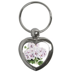 Flower Plant Blossom Bloom Vintage Key Chains (heart)  by Nexatart