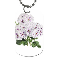 Flower Plant Blossom Bloom Vintage Dog Tag (two Sides) by Nexatart