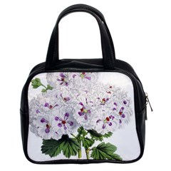 Flower Plant Blossom Bloom Vintage Classic Handbags (2 Sides) by Nexatart