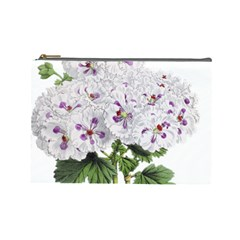 Flower Plant Blossom Bloom Vintage Cosmetic Bag (large)  by Nexatart