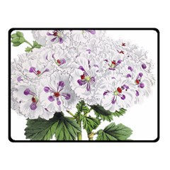 Flower Plant Blossom Bloom Vintage Fleece Blanket (small)