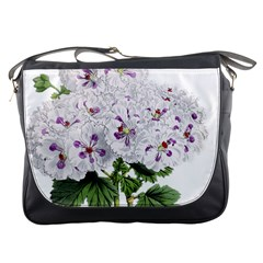 Flower Plant Blossom Bloom Vintage Messenger Bags