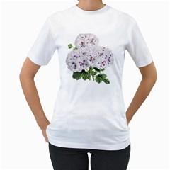 Flower Plant Blossom Bloom Vintage Women s T Shirt (white)