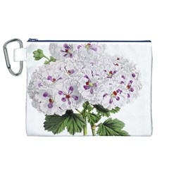 Flower Plant Blossom Bloom Vintage Canvas Cosmetic Bag (xl) by Nexatart