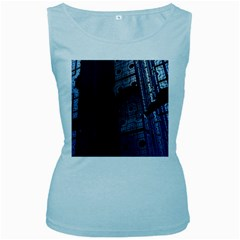 Graphic Design Background Women s Baby Blue Tank Top