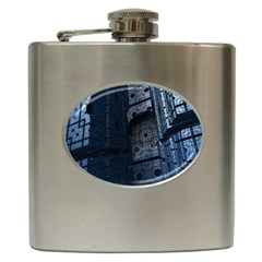 Graphic Design Background Hip Flask (6 Oz)