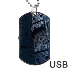 Graphic Design Background Dog Tag Usb Flash (one Side) by Nexatart