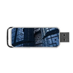 Graphic Design Background Portable Usb Flash (one Side)