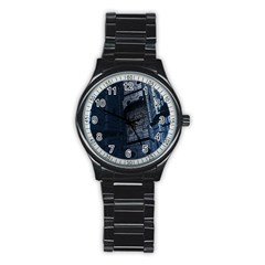 Graphic Design Background Stainless Steel Round Watch by Nexatart