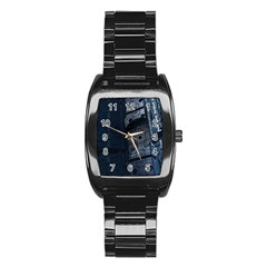 Graphic Design Background Stainless Steel Barrel Watch