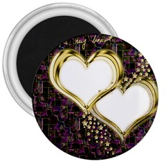 Lover Romantic Couple Apart 3  Magnets by Nexatart