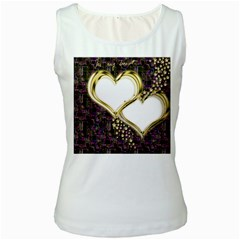 Lover Romantic Couple Apart Women s White Tank Top